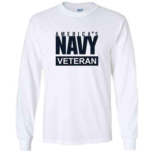 officially licensed u s navy veteran white long sleeve shirt