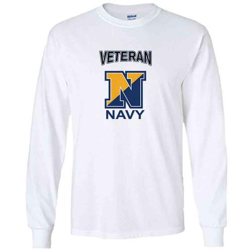 officially licensed u s navy n veteran white long sleeve shirt