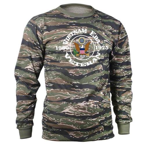 vietnam era veteran tiger stripe long sleeve shirt