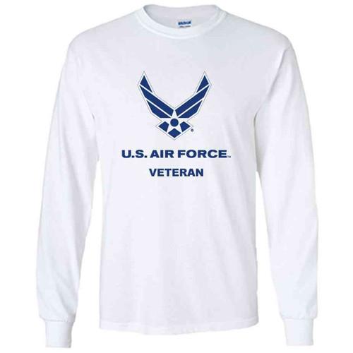 officially licensed u s air force veteran logo performance long sleeve shirt