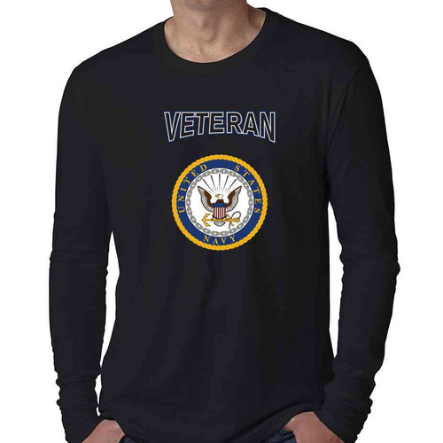 officially licensed u s navy gold emblem veteran special edition long sleeve shirt