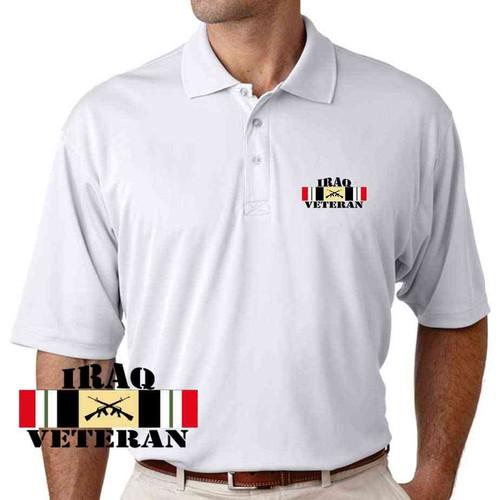 iraq veteran rifles performance white polo shirt