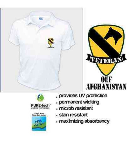 army 1st cavalry division oef afghanistan polo shirt