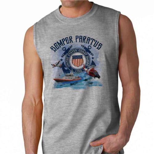 uscg semper paratus performance sleeveless shirt