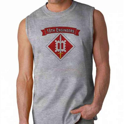 army 18th engineers sleeveless shirt