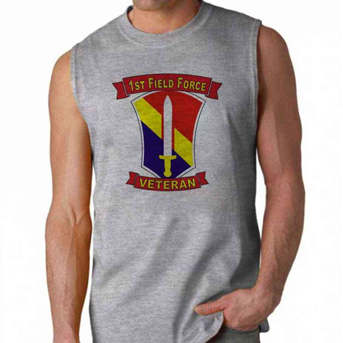 army 1st field force veteran sleeveless shirt