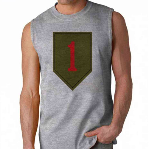 army 1st infantry division sleeveless shirt