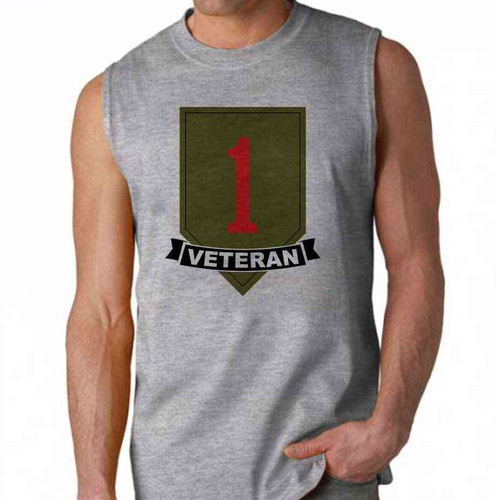 army 1st infantry division veteran sleeveless shirt