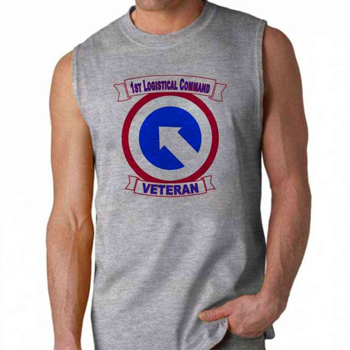 army 1st logistical command veteran sleeveless shirt