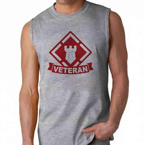 army 20th engineer brigade veteran sleeveless shirt