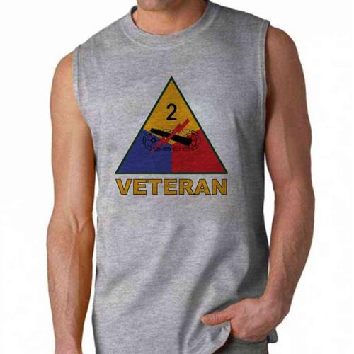 army 2nd armored division veteran sleeveless shirt