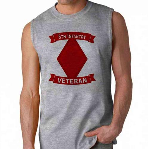 army 5th infantry division veteran sleeveless shirt