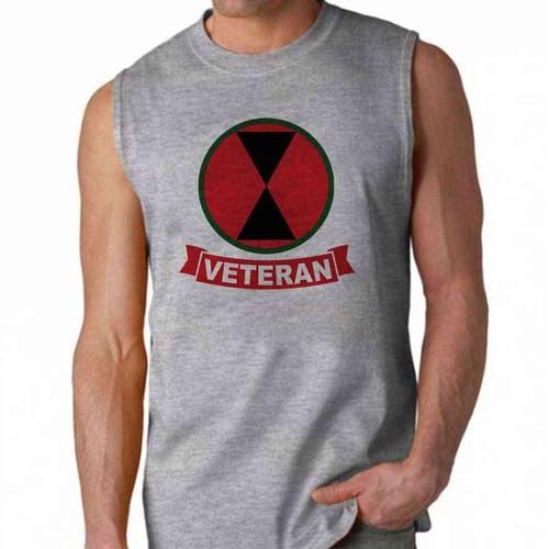 army 7th infantry division veteran sleeveless shirt