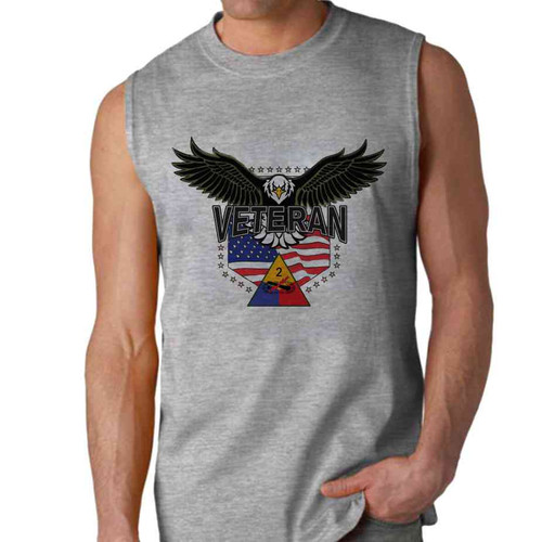 2nd armored division w eagle sleeveless shirt