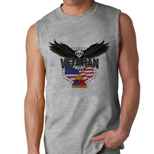 3rd armored division w eagle sleeveless shirt