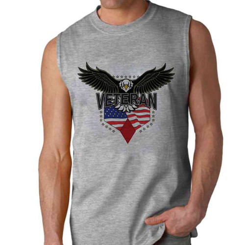 5th infantry division w eagle sleeveless shirt