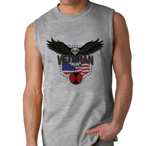 7th infantry division w eagle sleeveless shirt