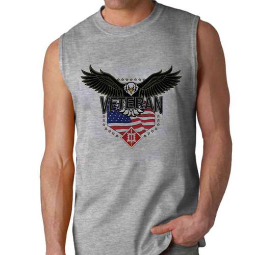 18th engineer brigade w eagle sleeveless shirt