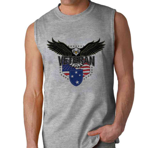 23rd infantry division w eagle sleeveless shirt