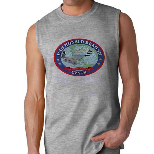 uss ronald reagan sleeveless shirt