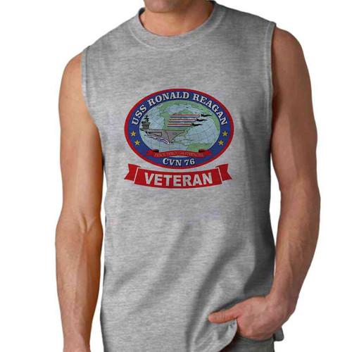 uss ronald reagan veteran sleeveless shirt