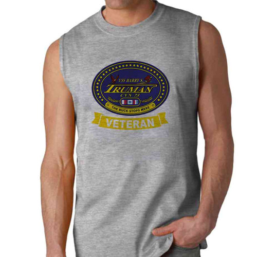 uss harry s truman veteran sleeveless shirt