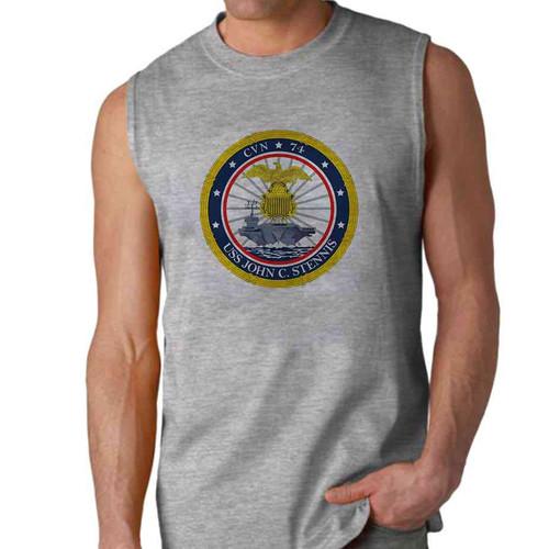 uss john c stennis sleeveless shirt