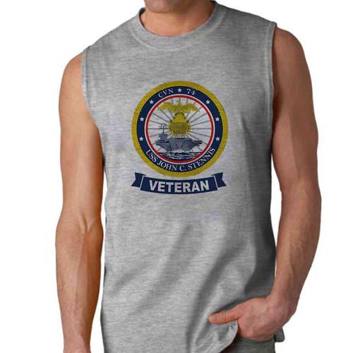 uss john c stennis veteran sleeveless shirt