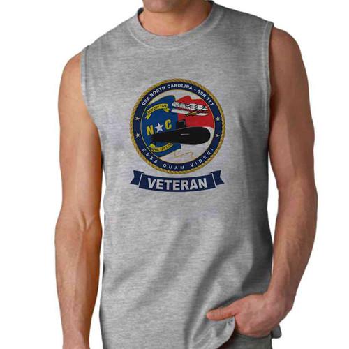 uss north carolina veteran sleeveless shirt