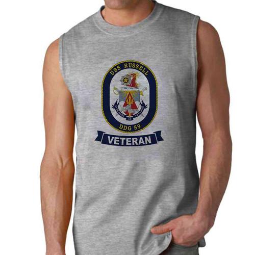 uss russell veteran sleeveless shirt