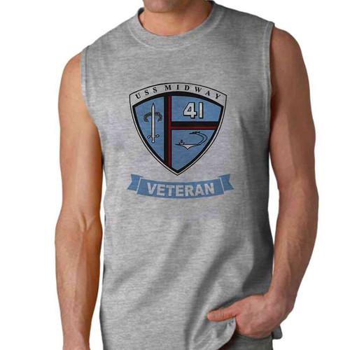 uss midway veteran sleeveless shirt
