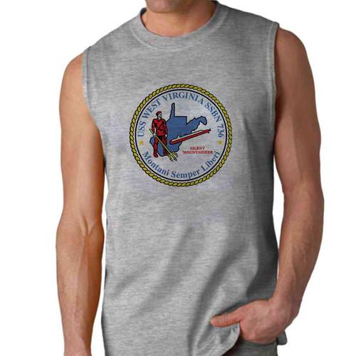 uss west virginia sleeveless shirt