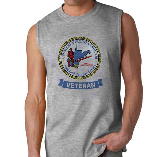 uss west virginia veteran sleeveless shirt