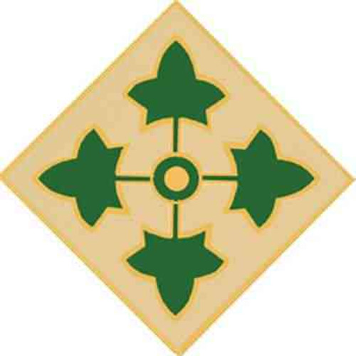 army 4th inf div hat lapel pin