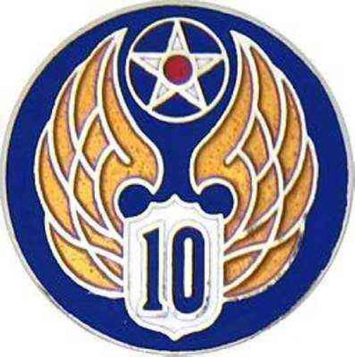 10th air force hat lapel pin