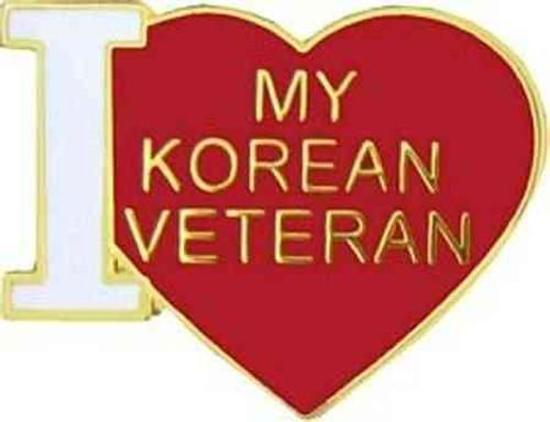love korea vet hat lapel pin