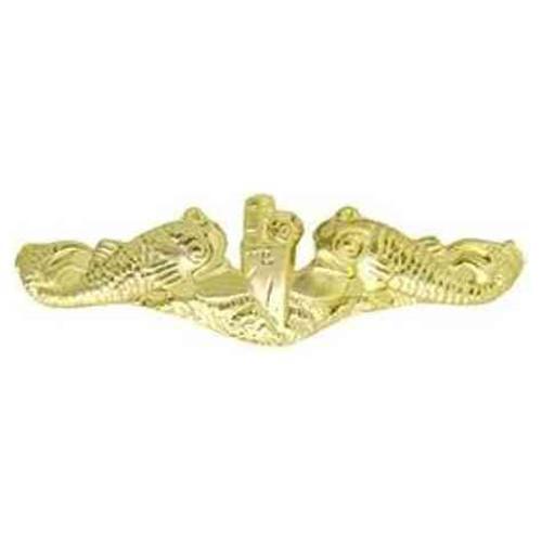 navy submarine lapel pin gold