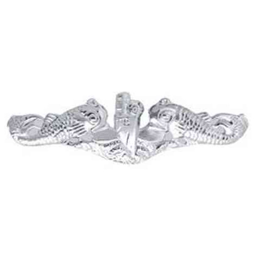 navy submarine lapel pin silver