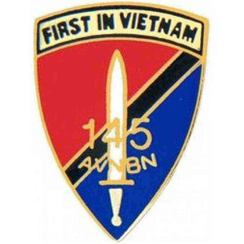 army 145th a vietnam bn hat lapel pin