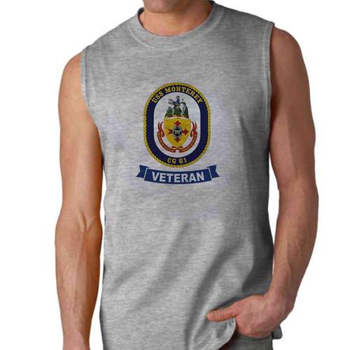 uss monterey veteran sleeveless shirt