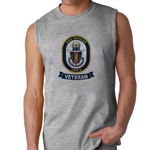 uss bataan veteran sleeveless shirt