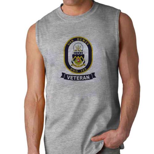 uss dewey veteran sleeveless shirt