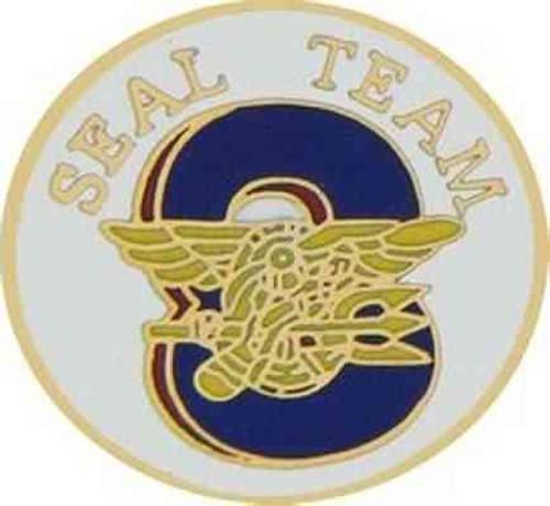 navy seal team 8 hat lapel pin