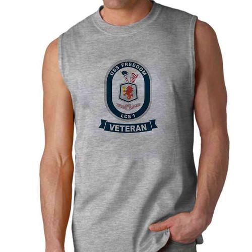 uss freedom veteran sleeveless shirt