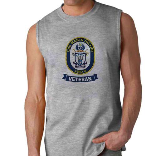 uss makin island veteran sleeveless shirt