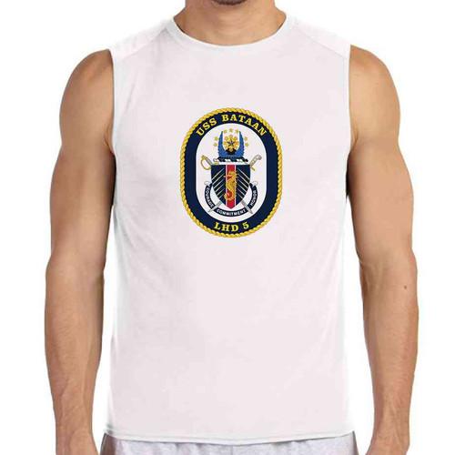 uss bataan white sleeveless shirt