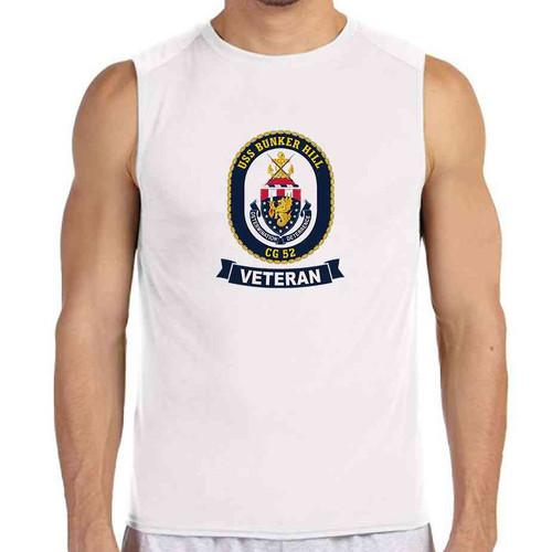 uss bunker hill veteran white sleeveless shirt