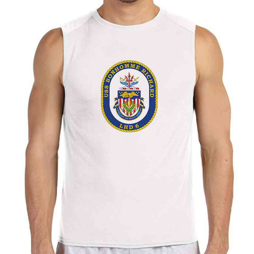uss bonhomme richard white sleeveless shirt
