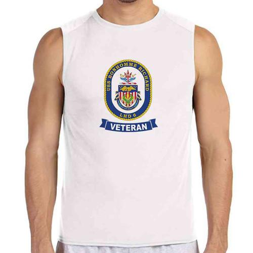 uss bonhomme richard veteran white sleeveless shirt