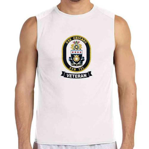 uss chicago veteran white sleeveless shirt